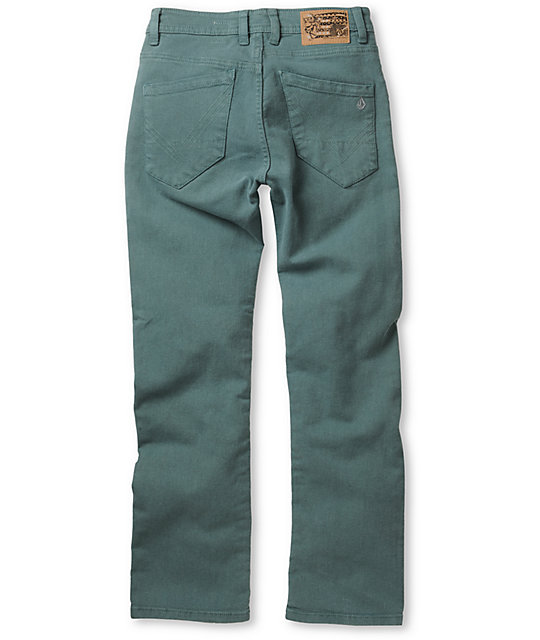 Volcom Boys Nova Teal Regular Fit Jeans