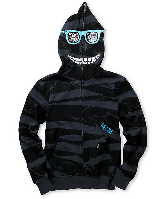 Metal Mulisha Boys Blaster Squad Charcoal Face Mask Hoodie 224779.jpg