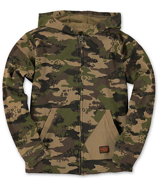 Camo zip up hoodie