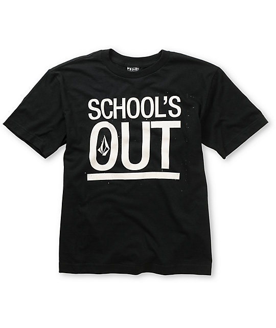 Volcom Boys Schools Out Black T-Shirt