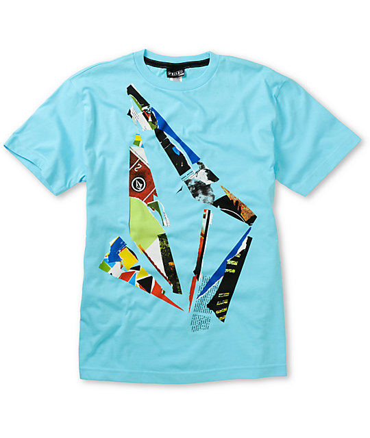 Volcom Boys Scrap Stone Blue T-Shirt