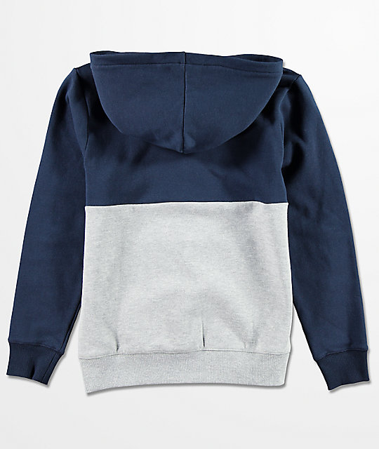 Volcom Boys Single Stone Division Navy Hoodie