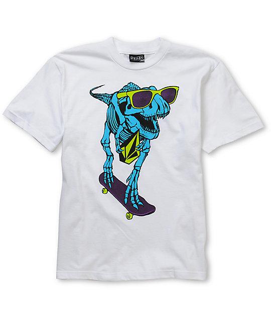 Volcom Boys Skate Dino White T-Shirt