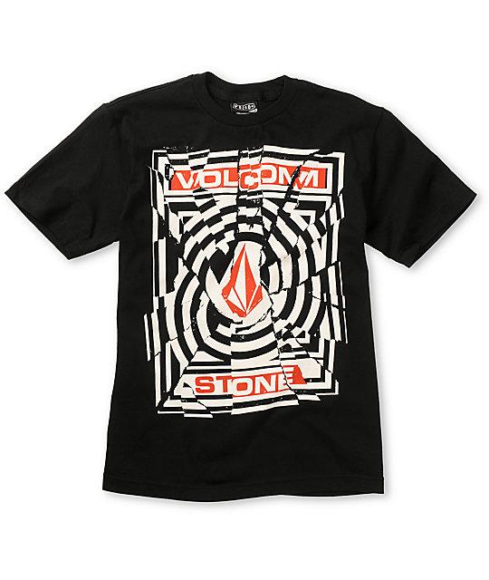 Volcom Boys Splice Black T-Shirt