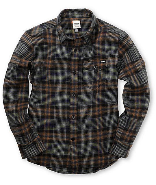 Volcom Boys Stave DGR Flannel Shirt