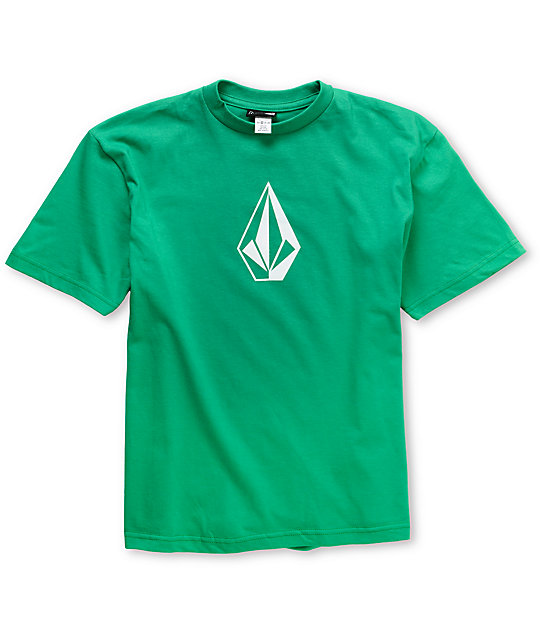 Volcom Boys Stone Icon Green T-Shirt