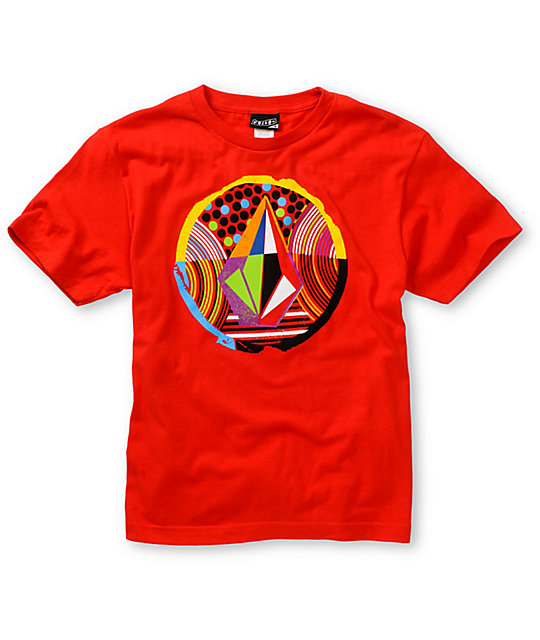 Volcom Boys Stranger Stone Red T-Shirt