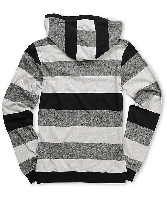 Volcom Boys Transmit Grey Stripe Hooded Top