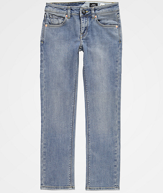 Volcom Boys Vorta Baja Indigo Denim Jeans