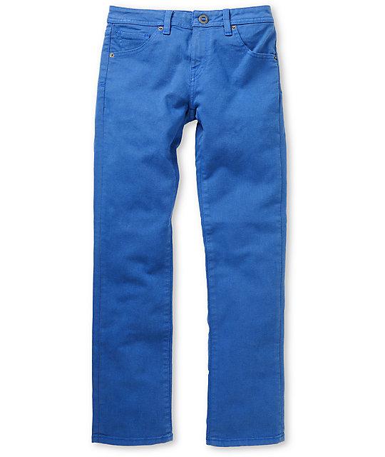 Volcom Boys Vorta Blue Slim Jeans