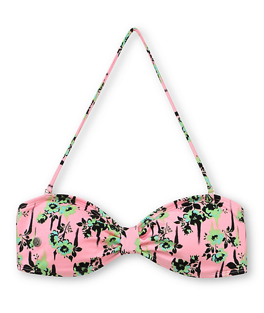 Volcom Break It Up Bandeau Pink Bikini Top
