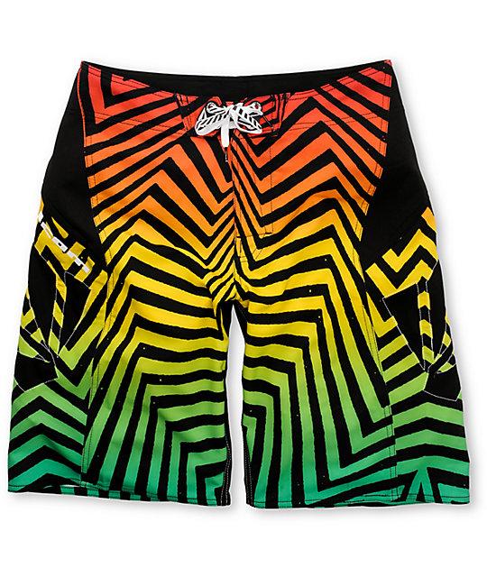 Volcom Bruce Annihilator Mod Rasta Board Shorts