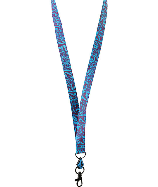 Volcom Bunch O Stones Blue & Purple Lanyard