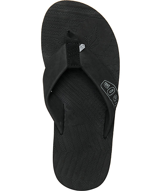 Volcom Burner Black Creedler Sandals
