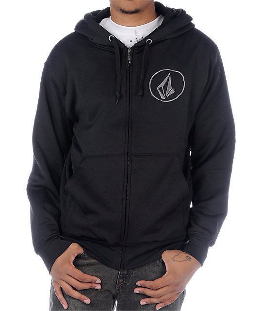 Volcom Buster Black Tech Fleece Jacket
