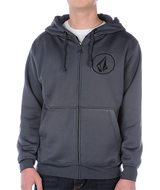 Volcom Buster Charcoal Tech Fleece Jacket