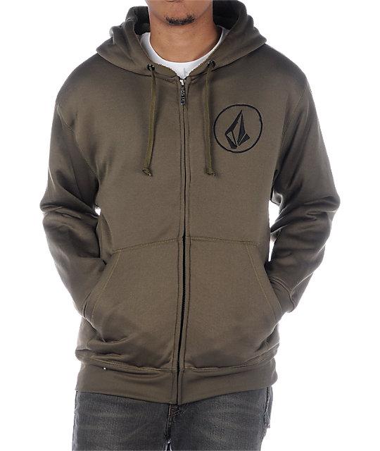 Volcom Buster Olive Tech Fleece Jacket