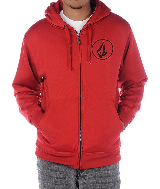 Volcom Buster Red Tech Fleece Jacket