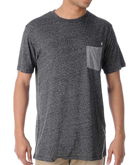 Volcom Calhoun Black Pocket T-Shirt