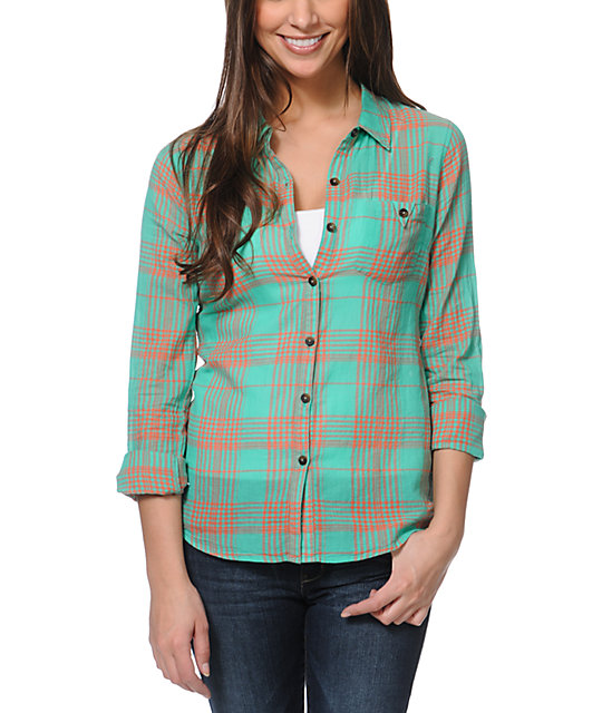 Volcom Calmate Plaid Button Up Shirt