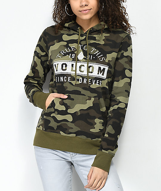 Volcom Camo Olive Green Hoodie by Volcom