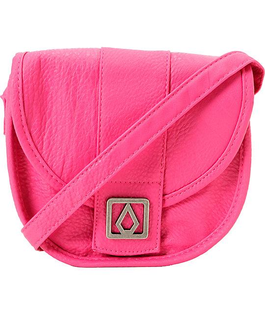 Volcom Candy Shop Fuchsia Pink Crossbody Purse