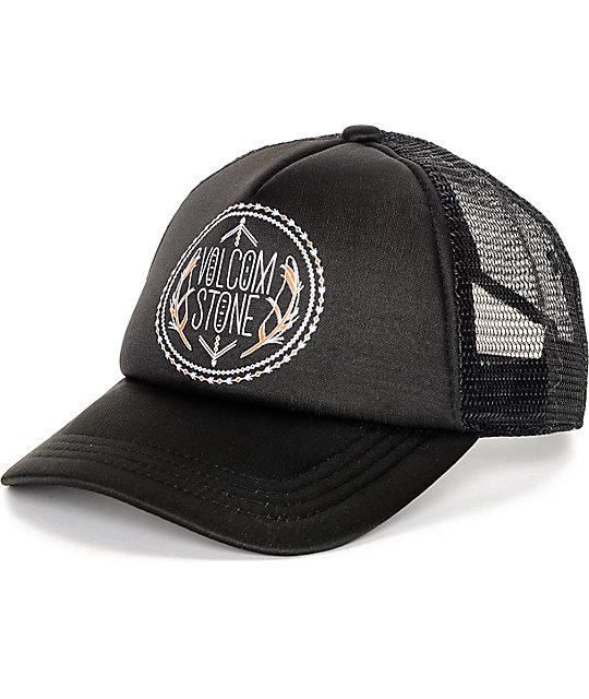 Volcom Carefree Black Mesh Baseball Hat
