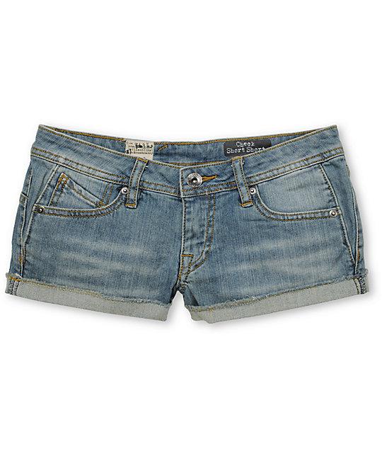 Volcom Check In 2.5 Denim Shorts
