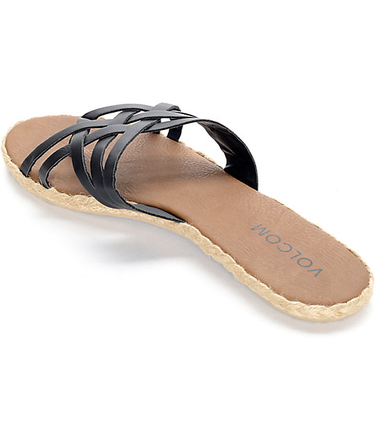 Volcom Check In Black Sandals