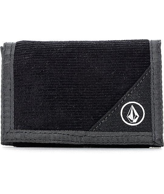 Volcom Circle Stone Black Trifold Wallet