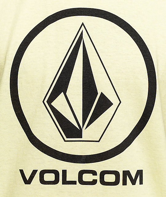 Volcom Circle Stone Pastel Yellow T-Shirt