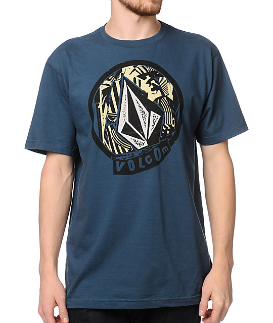 Volcom Circlesquare Blue T-Shirt