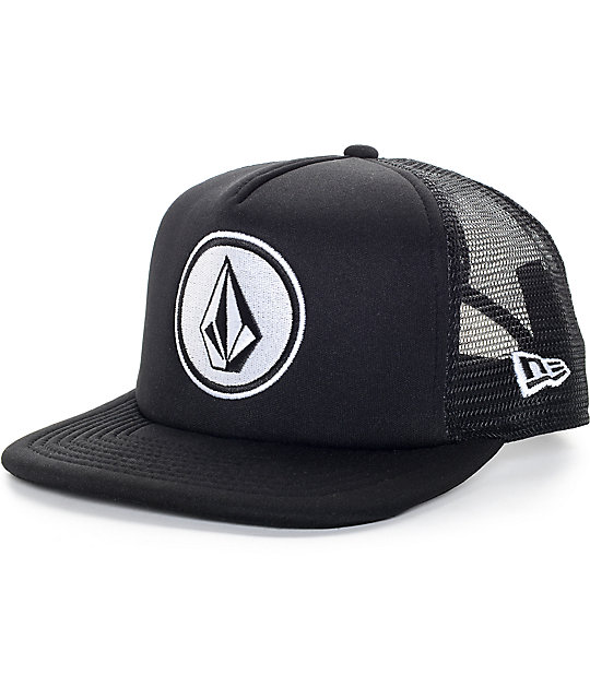 Volcom Coast Cheese Black New Era Trucker Hat
