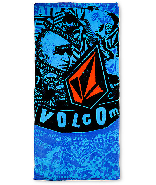 Volcom Collage Blue Beach Towel