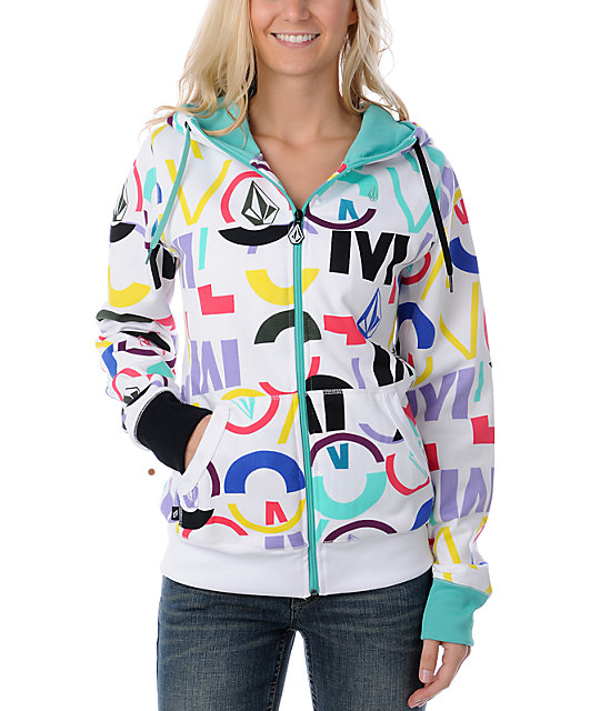 Volcom Collage White Tech Fleece Jacket