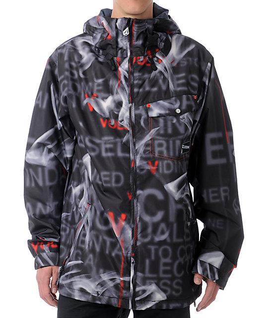 Volcom Construct 5k Black Smoke Snowboard Jacket