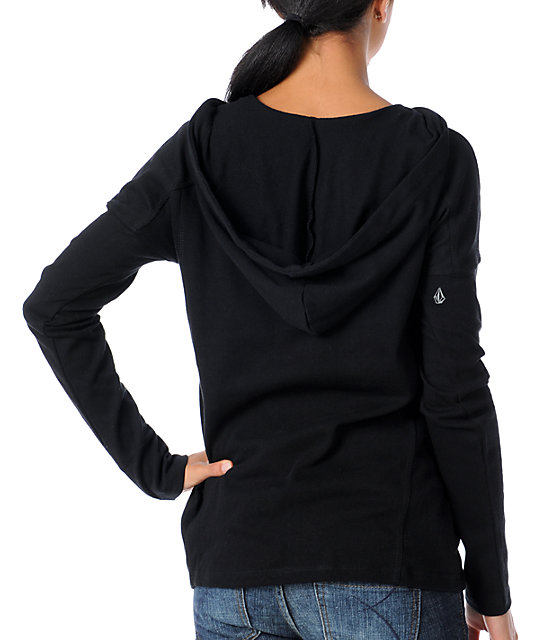 Volcom Cozy Up Black Pullover Hoodie
