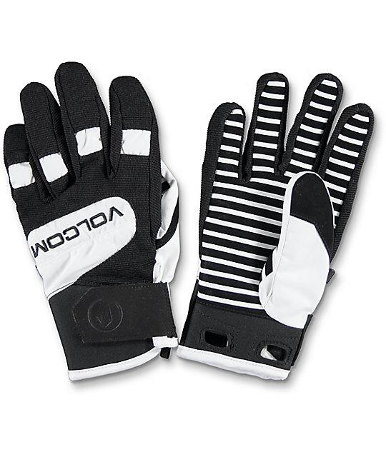 Volcom Crail White & Black Snowboard Gloves