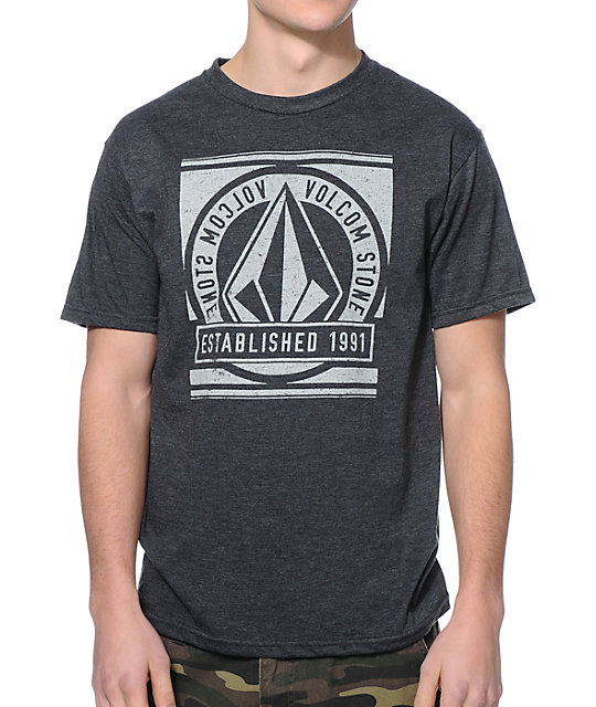 Volcom Current Heather Charcoal T-Shirt
