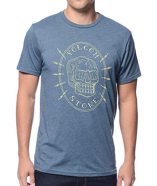 Volcom Cycle Skull Heather Blue T-Shirt