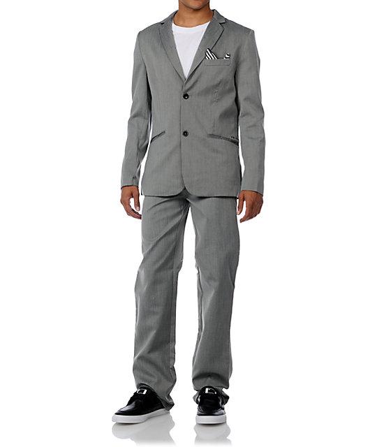 Volcom Dapper Stone Charcoal Suit