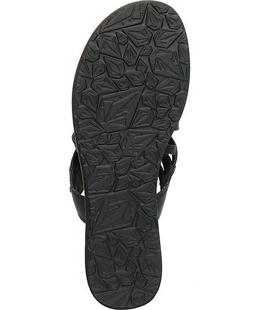 Volcom Day Off Black Creedler Sandals