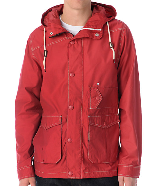 Volcom Down The Hatch Red Jacket