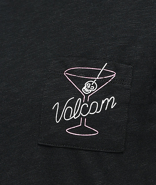 Volcom Drink It Up Black Pocket T-Shirt