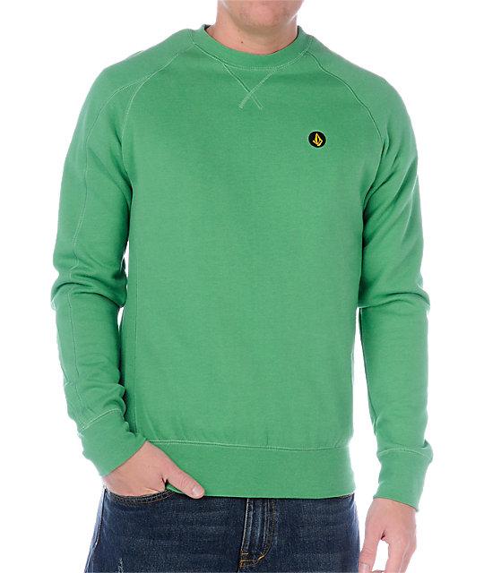Volcom Duster Green Crew Neck Sweatshirt