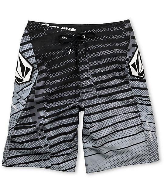 Volcom Dusty Annihilator Black & White Board Shorts