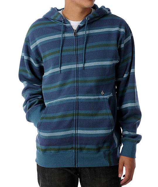 Volcom Easy Blue Stripe Hoodie