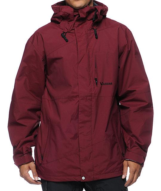 Volcom Ekin Maroon 10K Snowboard Jacket