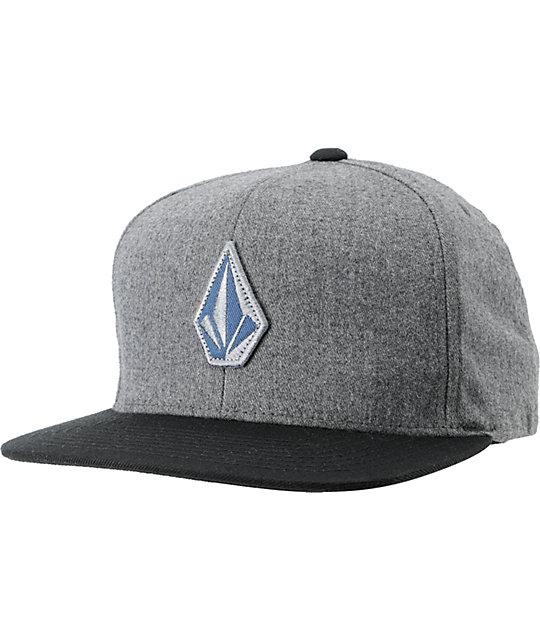 Volcom El Stone Grey & Black Snapback Hat
