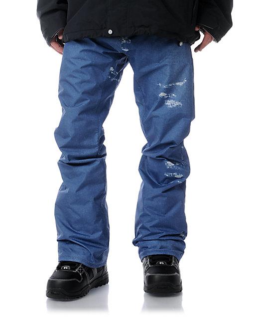 Volcom Emmet 5K Tight Blue Jean Snowboard Pants